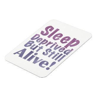 Sleep Deprived But Still Alive in Sleepy Purples Rectangular Photo Magnet
