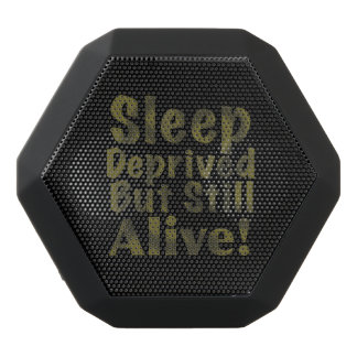 Sleep Deprived But Still Alive in Yellow Black Bluetooth Speaker
