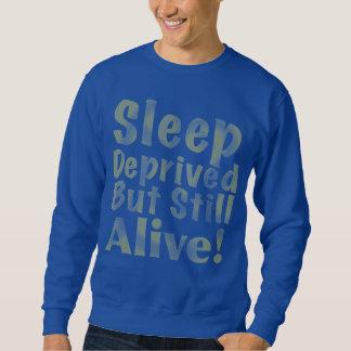 Sleep Deprived But Still Alive in Yellow Sweatshirt