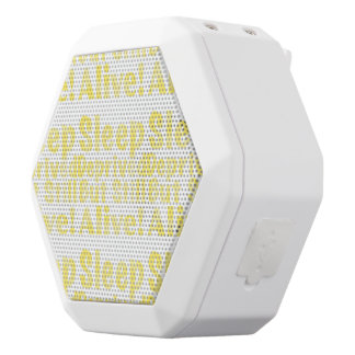 Sleep Deprived But Still Alive in Yellow White Bluetooth Speaker