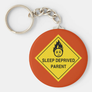 Sleep Deprived Parent Keychain
