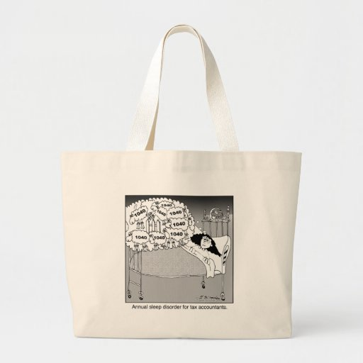 Sleep disorder for tax accountants canvas bag
