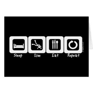 Sleep Dive Eat Repeat Card