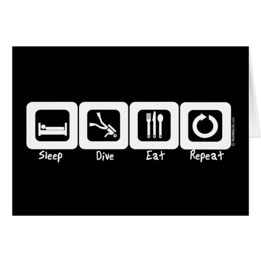 Sleep Dive Eat Repeat Cards