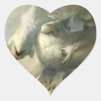 Sleep down heart sticker