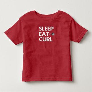 Sleep Eat Curl, Curling T-Shirt