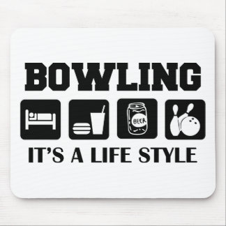 Sleep Eat Drink Beer & Bowling Mouse Pad