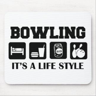 Sleep Eat Drink Beer & Bowling Mousepad