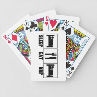 Sleep Eat Nap Playing Cards