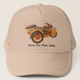 Sleep, Eat, Ride, URAL Trucker Hat
