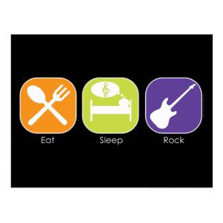 Sleep Eat Rock Postcard