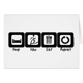 Sleep Hike Eat Repeat Card