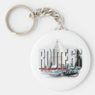 Sleep in a Wigwam - Route 66 Basic Round Button Key Ring