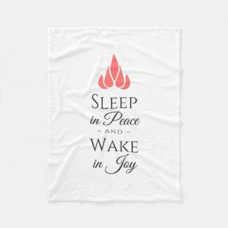 Sleep in peace and wake in joy fleece blanket
