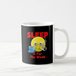 SLEEP IS FOR THE WEAK BASIC WHITE MUG