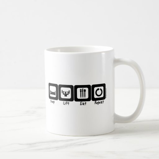 Sleep Lift Eat Repeat Basic White Mug