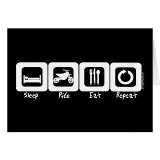 Sleep Ride Eat Repeat Greeting Card