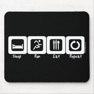 Sleep Run Eat Repeat Mouse Mat