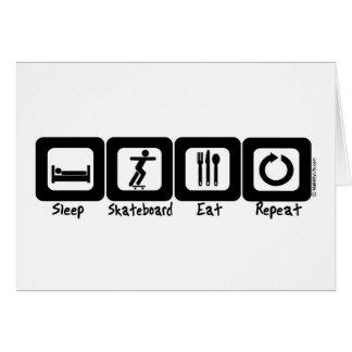 Sleep Skateboard Eat Repeat Greeting Card