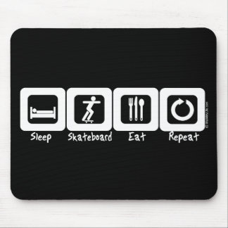 Sleep Skateboard Eat Repeat Mouse Mat