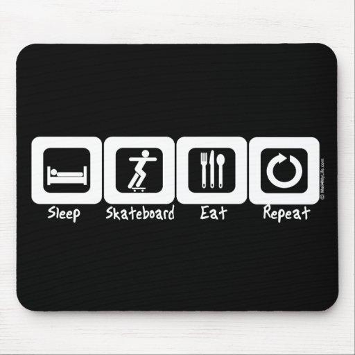 Sleep Skateboard Eat Repeat Mouse Mat
