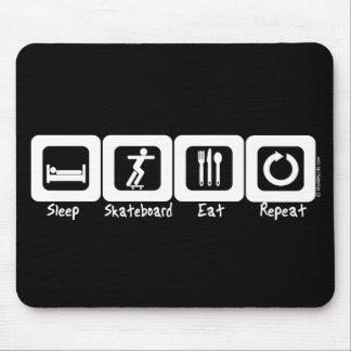 Sleep Skateboard Eat Repeat Mouse Pad