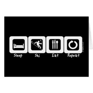 Sleep Ski Eat Repeat Card