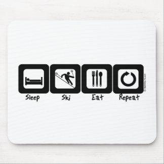 Sleep Ski Eat Repeat Mouse Pad