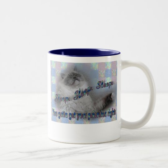 Sleep Sleep Sleep Two-Tone Coffee Mug