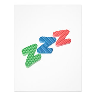 Sleep symbol flyer design