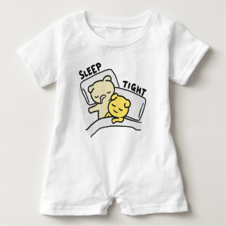 Sleep Tight Cats Doodle Baby Romper Baby Bodysuit