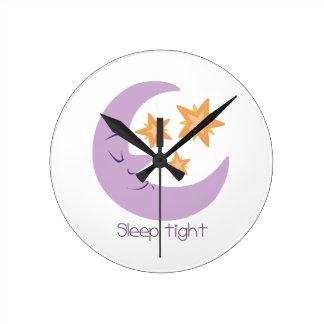 Sleep Tight Round Wallclock