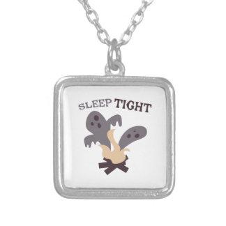 Sleep Tight Square Pendant Necklace