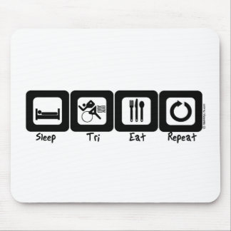 Sleep TrI Eat Repeat Mouse Mat