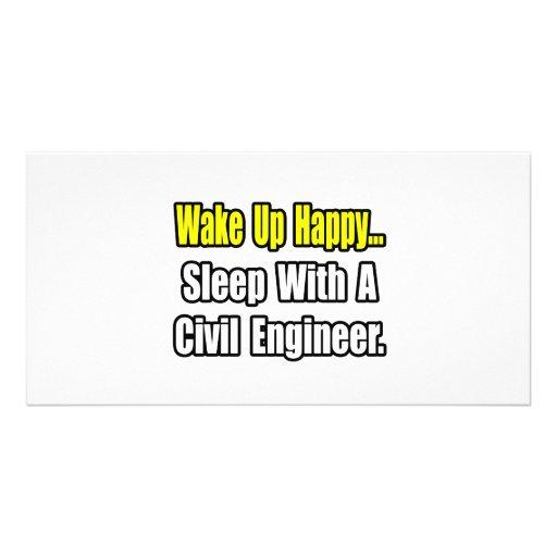 Sleep With A Civil Engineer Photo Cards
