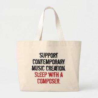 Sleep with a composer canvas bag
