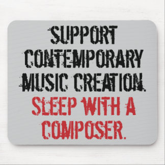 Sleep with a composer mouse mat