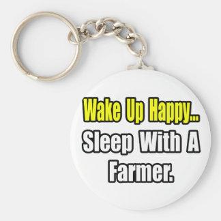 Sleep With a Farmer Key Ring