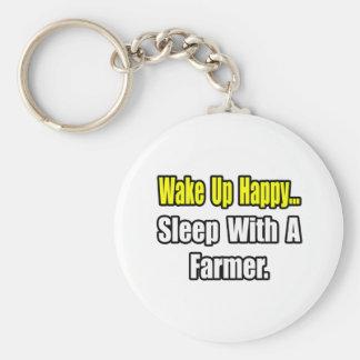 Sleep With a Farmer Keychain