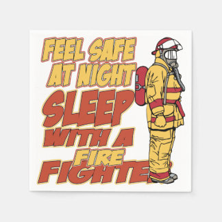 Sleep with a Firefighter Disposable Serviette