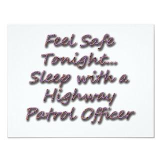 SLEEP WITH A HIGHWAY PATROL 11 CM X 14 CM INVITATION CARD