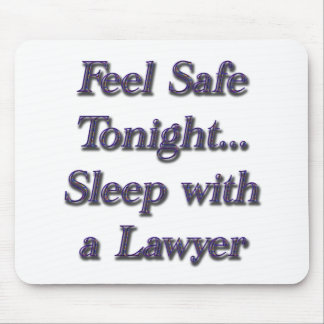 sleep with a lawyer mouse mat