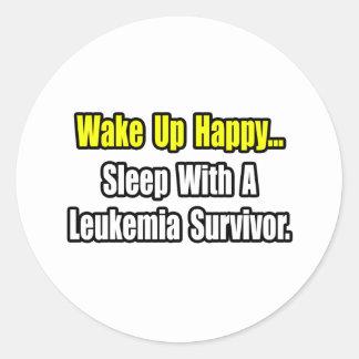 Sleep With a Leukemia Survivor Round Sticker