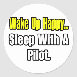 Sleep With A Pilot Round Sticker