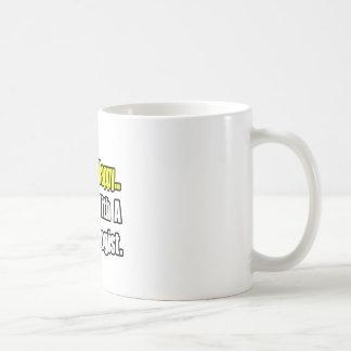 Sleep With a Psychologist Basic White Mug