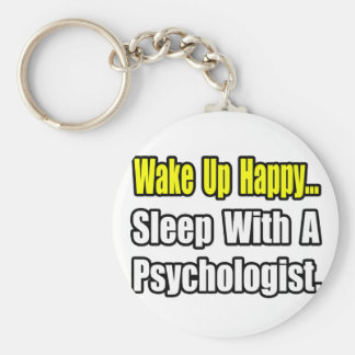 Sleep With a Psychologist Basic Round Button Key Ring