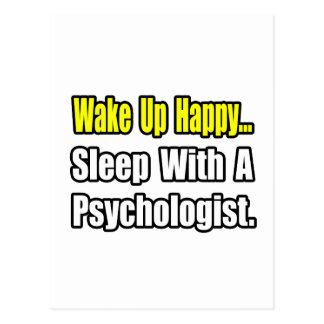 Sleep With a Psychologist Postcard