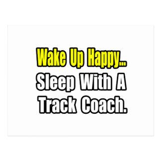 ...Sleep With a Track Coach Postcard