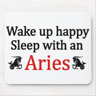 Sleep With An Aries Mouse Mat