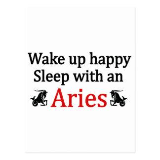 Sleep With An Aries Postcard